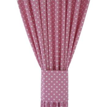 Kropki różowe 019 Zasłona