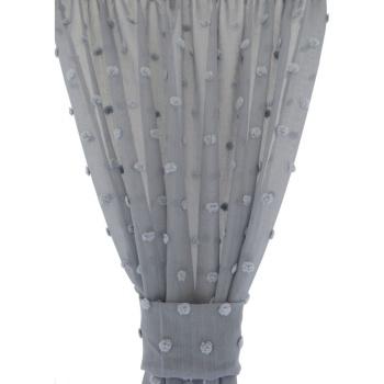 Zasłona bąbelki szara 054