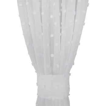 Zasłona bąbelki biała 055