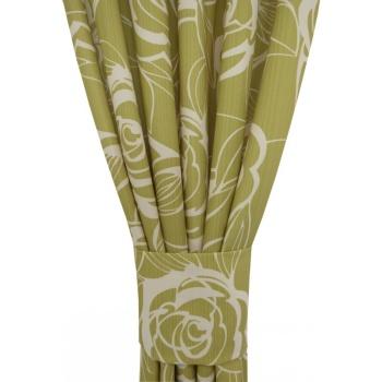 Zasłona zielone kwiaty 062