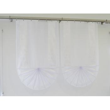 Panel wachlarz białe liście 127