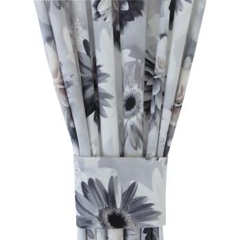 Zasłona gotowa kwiaty 3D 014